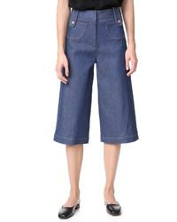 Falda pantalón vaquera azul de Derek Lam