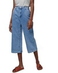 Falda pantalón vaquera azul de Topshop