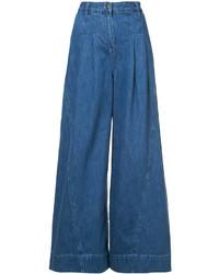Falda pantalón vaquera azul de Ulla Johnson