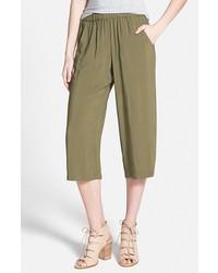 Falda pantalón verde oliva
