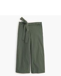 Falda pantalón verde oliva de J.Crew