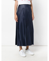 Falda plisada azul marino de Golden Goose Deluxe Brand