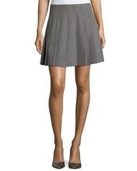 Falda plisada gris de Kate Spade