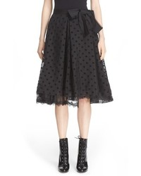 Falda plisada negra de Marc Jacobs
