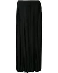 Falda plisada negra de MM6 MAISON MARGIELA