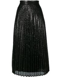 Falda plisada negra de Twin-Set