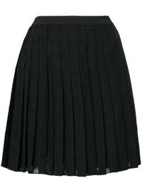 Falda plisada negra de Versace