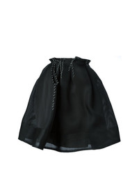 Falda skater plisada negra de Lanvin