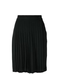 Falda skater plisada negra de Versace Vintage