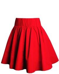 Falda skater roja