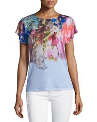Floral crew neck t shirt original 1315513
