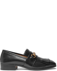Fringe Leather Loafers