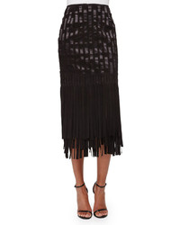 Fringe midi skirt original 10333047