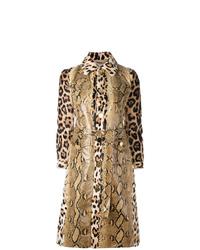 Gabardina de cuero estampada marrón claro de Givenchy