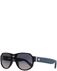Gafas de sol azul marino de Stefano Ricci