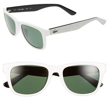 d5fc3a21eb7f1 ... Gafas de sol blancas de Lacoste ...