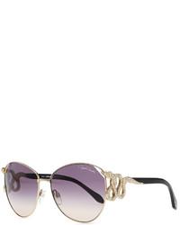 Gafas de sol con adornos en negro y dorado de Roberto Cavalli