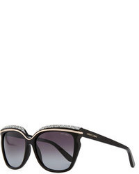 Gafas de sol con adornos negras
