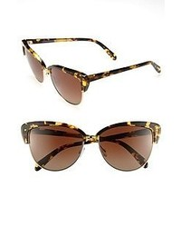 Gafas de sol de leopardo en marrón oscuro de Oliver Peoples