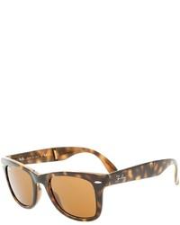 Gafas de sol de leopardo en marrón oscuro de Ray-Ban