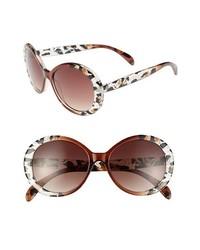 Gafas de sol de leopardo en marrón oscuro de Steve Madden