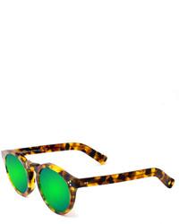 Gafas de sol de leopardo verdes