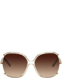 Gafas de sol doradas de Chloé