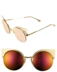 Gafas de sol doradas de Fendi
