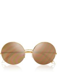 Gafas de sol doradas de Victoria Beckham