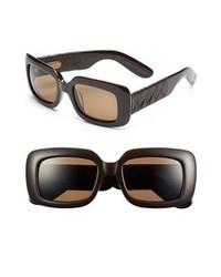 Gafas de sol en marrón oscuro de Bottega Veneta