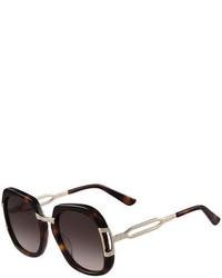 Gafas de sol en marrón oscuro de Etro