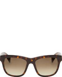Gafas de sol en marrón oscuro de Jil Sander