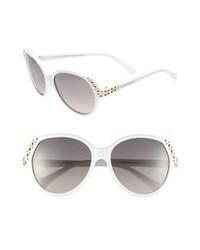 Gafas de sol en negro y blanco de Alexander McQueen