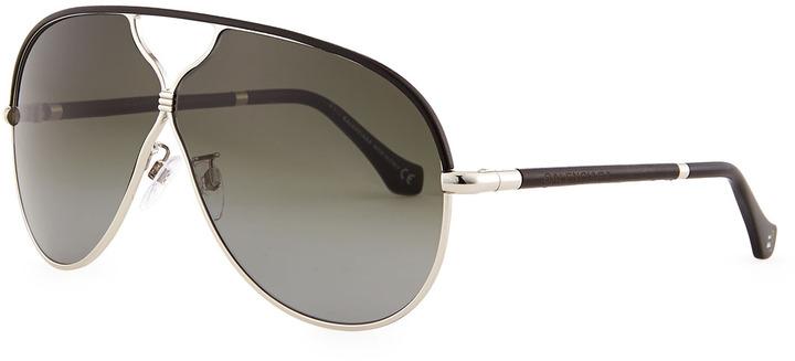 3e56d89833 Gafas de sol en negro y dorado de Balenciaga, $555   Neiman Marcus ...