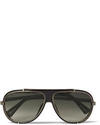 Gafas de sol en negro y dorado de Lanvin