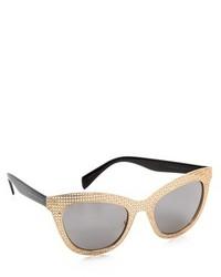 Gafas de sol en negro y dorado de Marc by Marc Jacobs