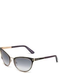 Gafas de sol en negro y dorado de Tom Ford