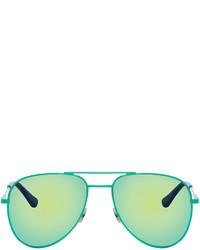 Gafas de sol en verde menta de Saint Laurent