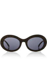 Gafas de sol estampadas en marrón oscuro de Prism