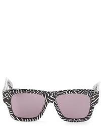 Gafas de sol estampadas en negro y blanco de Dita Eyewear