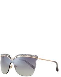 Gafas de sol grises de Jimmy Choo