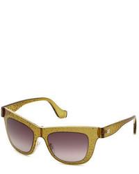 Gafas de sol marrón claro de Balenciaga