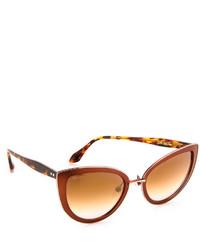 Gafas de sol marrónes de Cat Eye