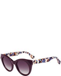 Gafas de sol morado oscuro de Fendi