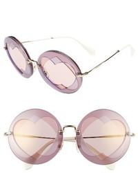 Gafas de sol morado de Miu Miu