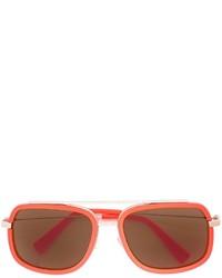 Gafas de sol naranjas de Versace
