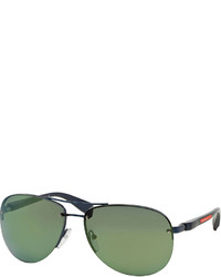 Gafas de sol verde oscuro de Prada