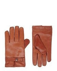Gants en cuir orange Barneys New York