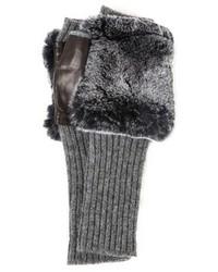 Gants en laine gris Carolina Amato