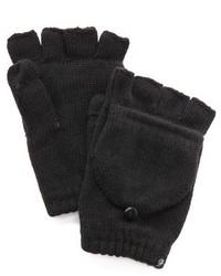 Gants en laine noirs Plush